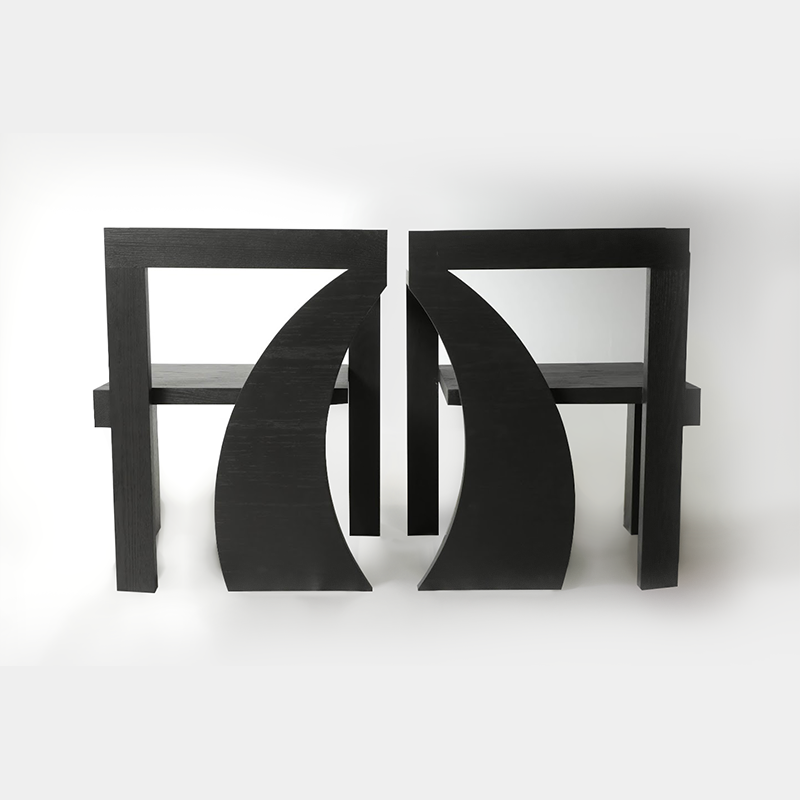 DIMA HAIDAR - SHAMSA CHAIR | TRIP TO EAST COLLECTION  | SOLID WOOD | BLACK VENEER | LIMITED EDITION