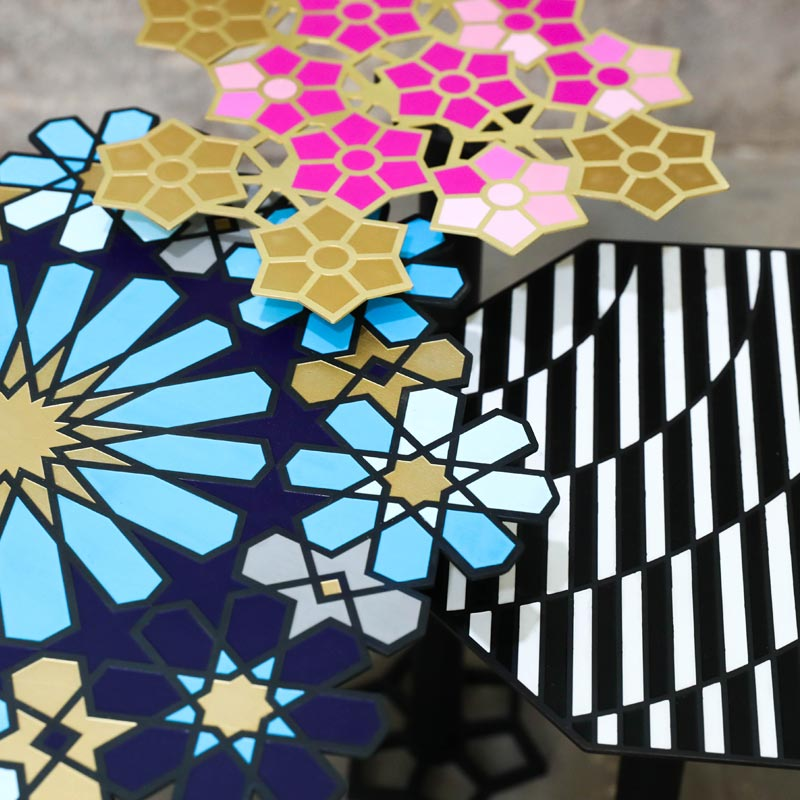 Dima Haidar - HOT COLLECTION | SHIRINE TABLE | BARSS | METAL | ENAMELING